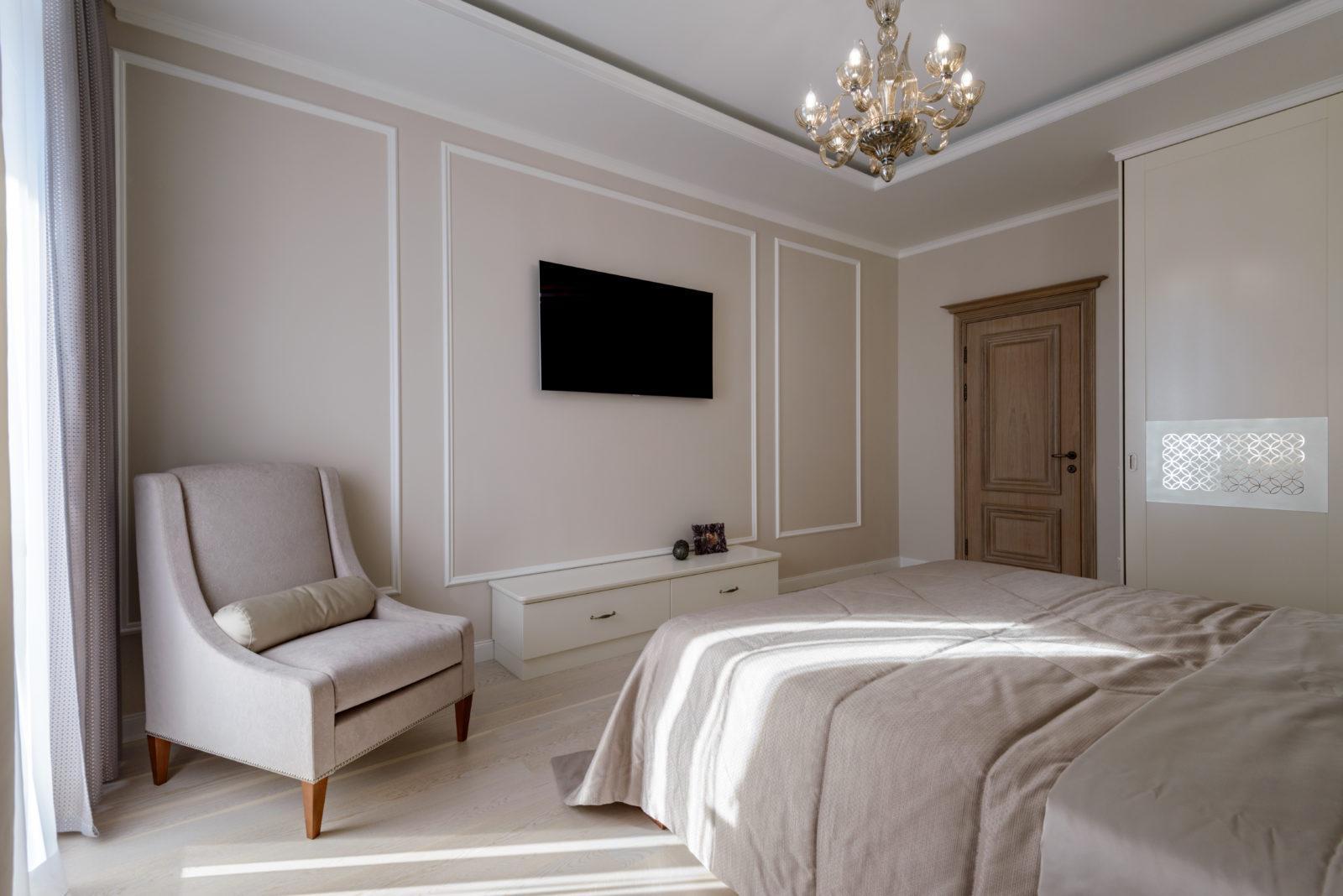 Дизайн интерьера спальни ЖК Бавария