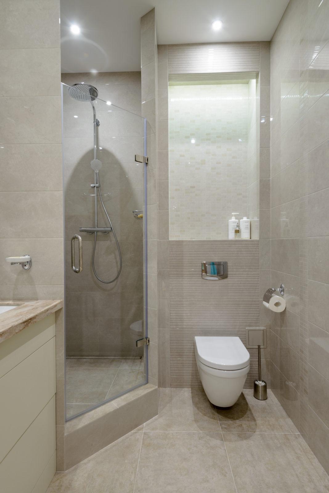 Дизайн интерьера ванной комнаты Бавария