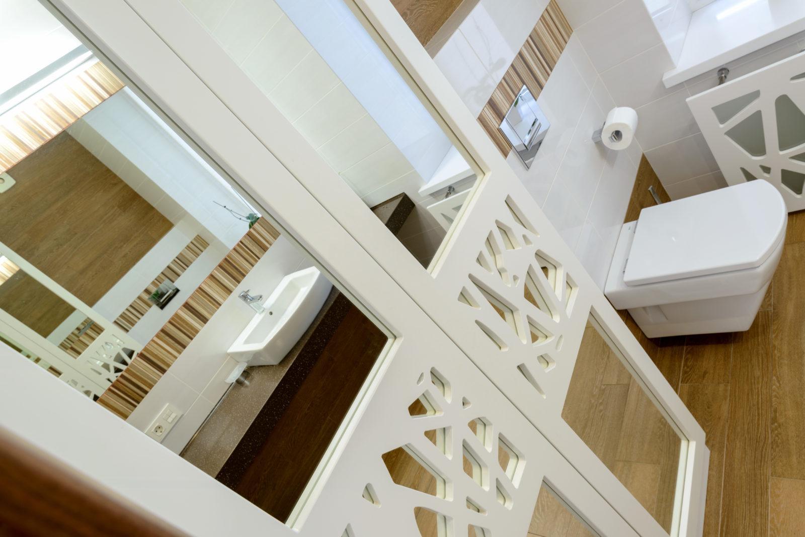 Дизайнерский ремонт санузла в коттедже ( Черных )