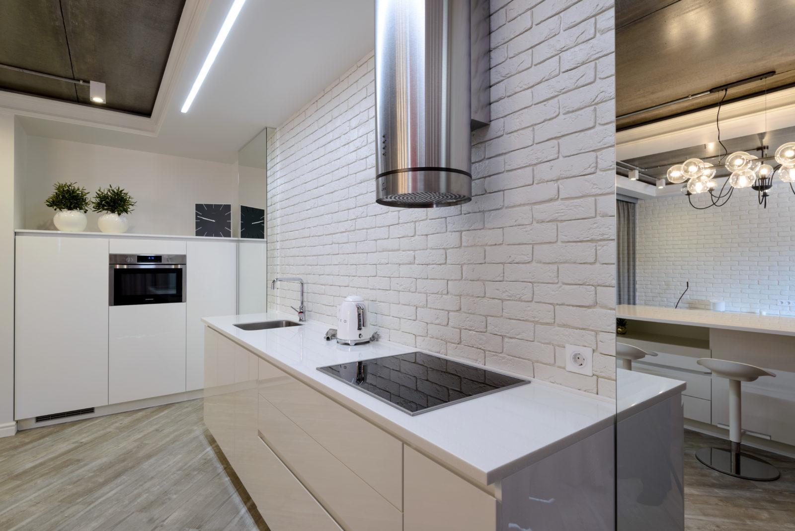 Дизайн интерьера кухни в квартире ( Академгородок )