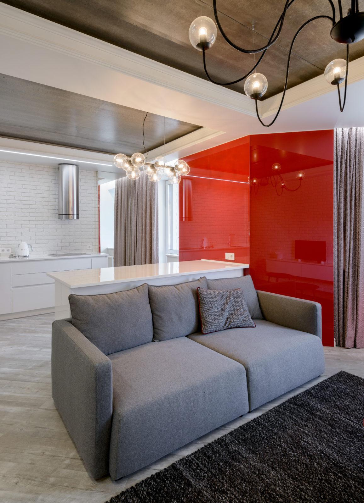 Дизайн интерьера гостиной в квартире ( Академгородок )
