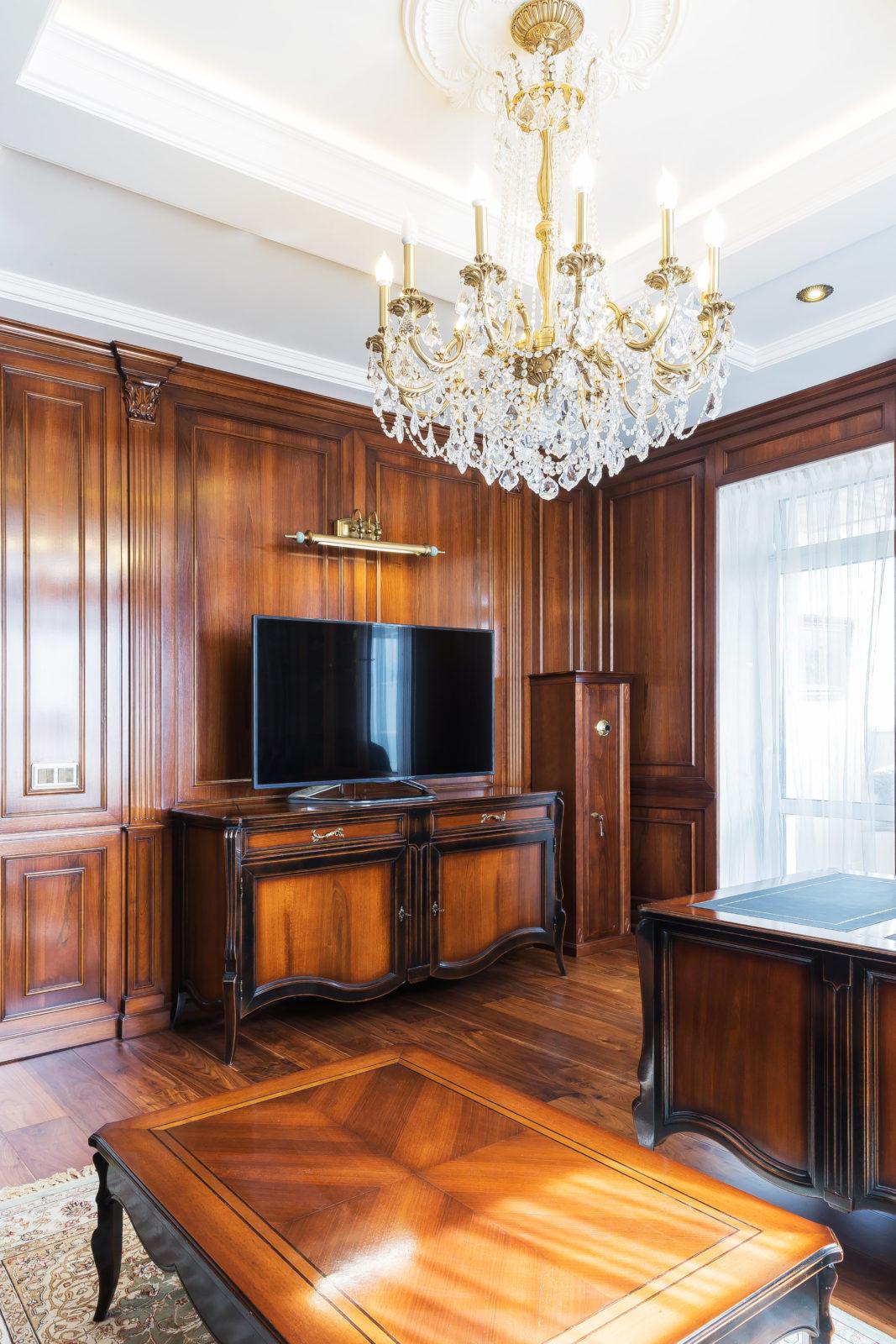 Дизайн интерьера кабинета в пентхаусе